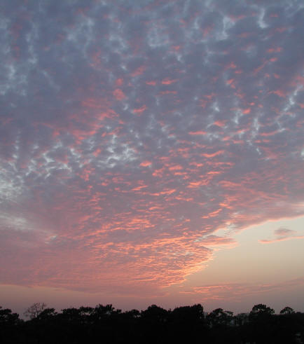 Changing Houston skies: sunrise, 10/21/01