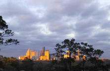 Sunset over Houston, Texas (December 2002)