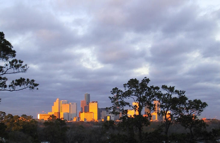 Changing Houston skies: afternoon, 12/24/02